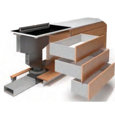 airforce okta se ka 1000 tischhaube mit induktions. Black Bedroom Furniture Sets. Home Design Ideas